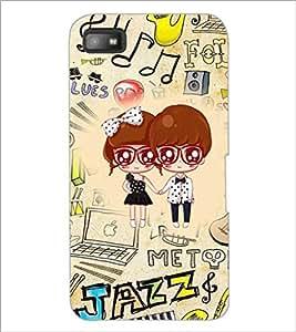 PrintDhaba Cartoon D-4242 Back Case Cover for BLACKBERRY Z10 (Multi-Coloured)