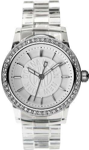 DKNY Clear Plastic Glitz White Dial Women's watch #NY8017