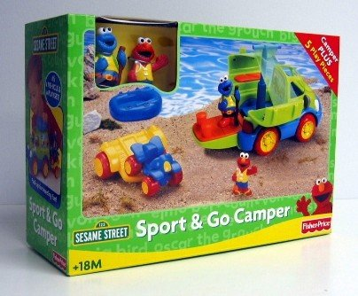 Buy Low Price Fisher Price Sesame Street Sport & Go Camper Figure (B000PEHA7C)