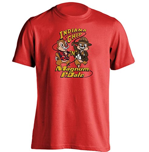 Arnoldo Blacksjd Indiana Chip N Magnum P Dale Chip N Dale Indiana Jones Magnum P I T Shirt XXX-Large