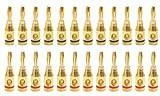バナナプラグ 24k 金メッキ 24本セット(12ペア) 【グリーンウィーク】 GWBP01-24