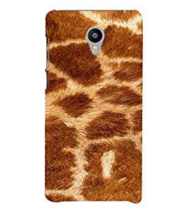 PrintVisa Giraffe Animal Print Pattern 3D Hard Polycarbonate Designer Back Case Cover for Meizu M3 Note