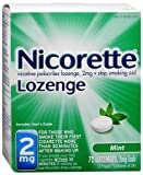 Nicorette Nicotine Lozenges Mint 2mg, 72 count