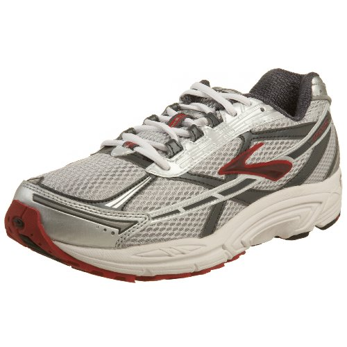 Brooks Men's Dyad 5 Running Shoe Silver/Grey/Red 7.5 UK