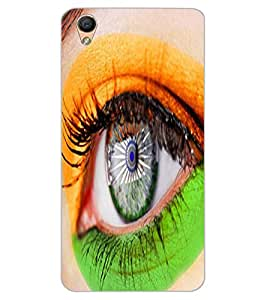 ColourCraft Amazing Eye Painting Design Back Case Cover for OPPO F1 PLUS