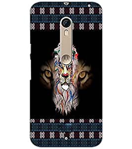 PrintDhaba Tiger face D-5665 Back Case Cover for MOTOROLA MOTO X PURE EDITION (Multi-Coloured)