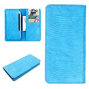 DooDa PU Leather Case Cover For Lenovo P780 (Sky Blue)