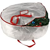 "Elf Stor Deluxe White Holiday Christmas Wreath Storage Bag For 30"" Wreaths"