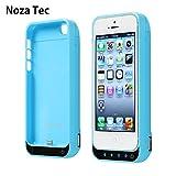 Noza Tec iPhone5 5S 5C SE 専用 バッテリー内蔵ケース 青い 4200Mah 大容量 (青)