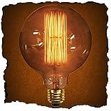 KINGSO G125 40W Edison Lampadina Vintage Retro Stile Grande lampadina Globo con gabbia di luce filamento della lampadina tappo a vite E27 per Casa Light Fixtures Decorativo