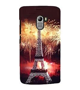 Fuson Premium Back Case Cover Eiffel tower With Multi Background Degined For Lenovo K4 Note