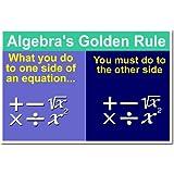 Math: Algebra's Golden Rule, Classroom Poster