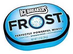 ICE BREAKERS FROST Mints (Peppermint, 1.2-Ounce Containers, Pack of 6)