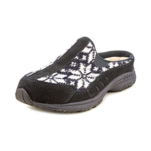 "Women'S Easy Spirit Mules ""Traveltime"" - Navy Multi Suede (6, Navy Multi Suede)"