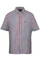 MENS 'DONCASTER' CASUAL POLY COTTON SHIRT-GREEN OR BLUE
