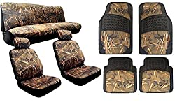 See Complete Muddy Water Forest Camo Interior Set Designed to fit Chevy Cobalt - 2 Front Seats - Rear Bench - 4PC Heavy Duty Floor Mat Set Snow Rain Forest Duck Hunting Details
