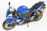 Yamaha YZF-R1 Blau 1/10 Welly Modell Motorrad mit individiuellem Wunschkennzeichen
