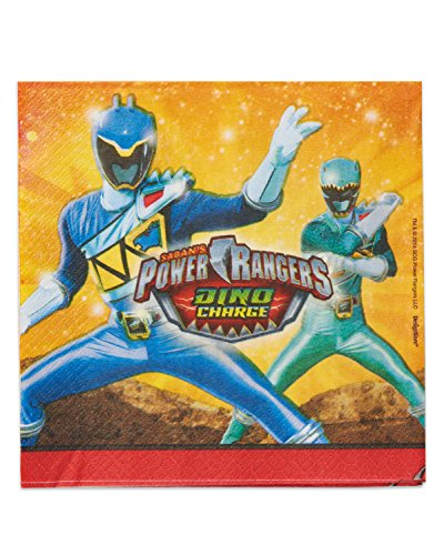American Greetings Power Rangers Dino Charge Lunch Napkins (16 Count) - 1