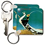 kc_174639 Florene - Art Deco And Art Nouveau - image of lady riding a peacock in art deco style - Key Chains