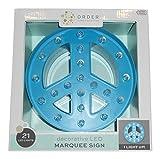 Decorative LED Peace Symbol Marquee Sign