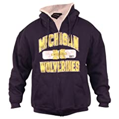 University of Michigan Wolverines Vintage Look Sherpa Lined Hoodie by J. America