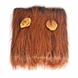 GABOSS Lion Mane Costume, Dog Lion Wig for Dog Large Pet Festival Party Fancy Hair Dog Clothes (Dark Brown with ear)
