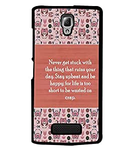 PrintDhaba Quote D-5724 Back Case Cover for LENOVO A2010 (Multi-Coloured)