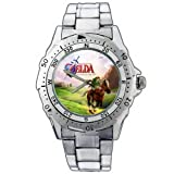 EPSP370 The Legend of Zelda Ocarina Of Time Grass Stainless Steel Wrist Watch