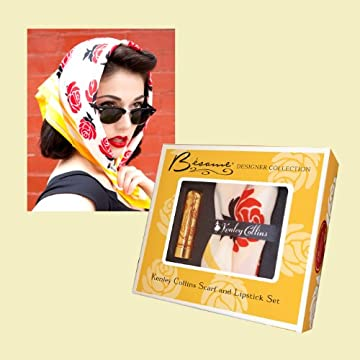 Kenley Collins Scarf and Lipstick Set