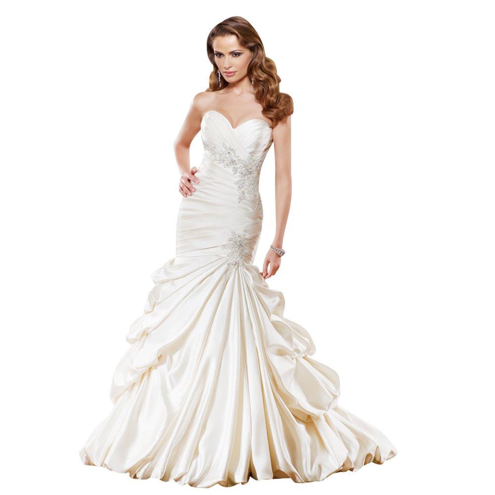 Mermaid wedding dress luxury mermaid trumpet taffeta for Mermaid and trumpet wedding dresses