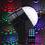 Supertech 2015 Newest 7 Color Changes With Remote Control Sound Actived Auto Flash RGB Mini Rotating Magic Ball Stage Lights For KTV Xmas Party Wedding Show Club Pub Disco DJ And More