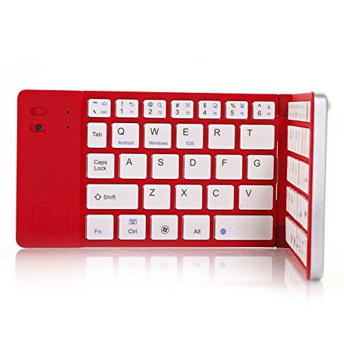 Top® Quality Folding Wireless Bluetooth Keyboard Case For Samsung Galaxy S3 I9300, Galaxy S4, I9500, S5/S6/S7/S8, Galaxy Note Ii/2, Galaxy Note Iii/3 , Note Iv/4, Note V/5, Note 6, Note 7/8, Bluetooth Keyboard, Laptop Keyboard, Ipad 2/3/4/5/6/7/8 Wireless
