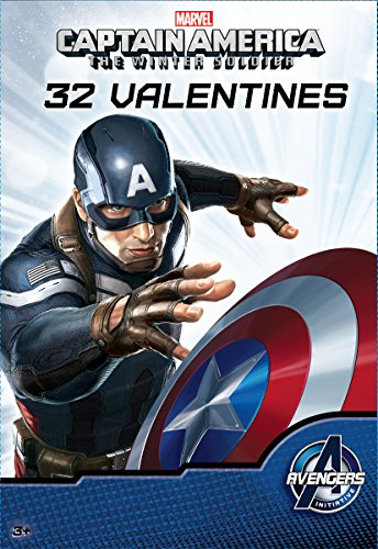 Paper Magic 32CT Showcase Captain America 2 Kids Classroom Valentine Exchange Cards