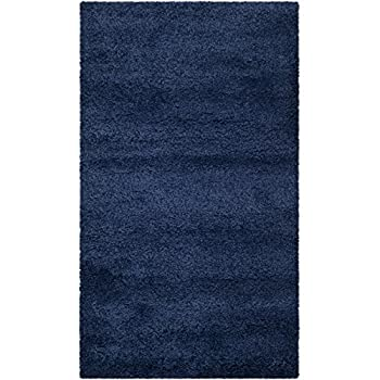 Safavieh Milan Shag Collection SG180-7070 Navy Area Rug (3' x 5')