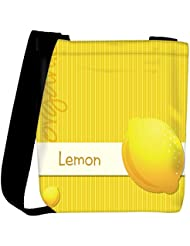 Snoogg Bright Organic Lemon Card In Vector Format Womens Carry Around Cross Body Tote Handbag Sling Bags