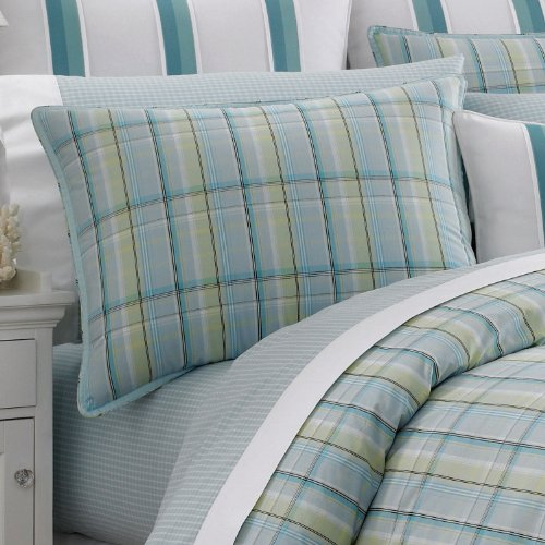 Nautica Standard Pillow Sham Seabright Plaid 100% Cotton back-983306