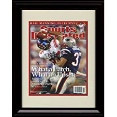 Framed David Tyree Sports Illustrated Autograph Print - New York Giants - 2 11 2008 by Framed Sport Prints
