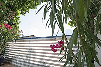 brise vue pour balcon balcon ibiza windhager gris blanc 0 90 x 5 5 m jardin. Black Bedroom Furniture Sets. Home Design Ideas