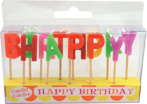 Party Partners Design Candid Candles: Happy Birthday, Multicolored - 1