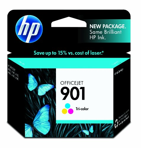 HP 901 CC656AN#140 Tri-Color Ink Cartridge in Retail Packaging