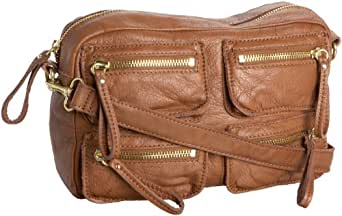 Linea Pelle  Dylan 40806 Crossbody Carryall,Brown,One Size