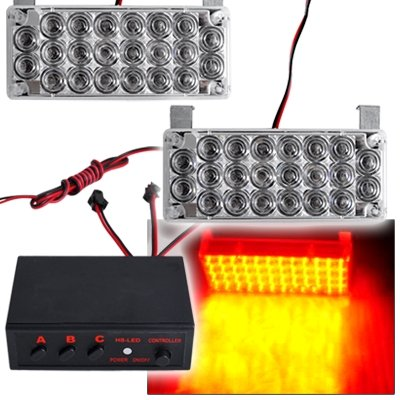 Set 22 LED Car Strobe Emergency Flashing Grill Lights