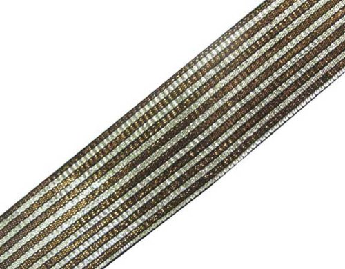 4.5 Y Metallic Double Color Jacquard Ribbon Trim Sewing Border Lace