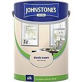 Johnstones No Ordinary Paint Water Based Interior Vinyl Silk Emulsion Classic Cream 5 Litre