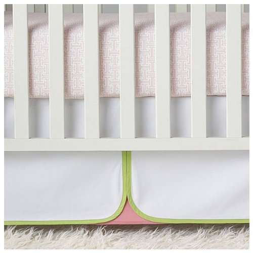 Serena & Lily Lola Crib Skirt- Green - 1