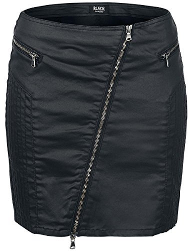 Black Premium by EMP Waxed Skirt Minigonna nero S