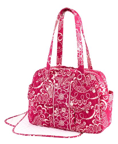 vera bradley baby bag diaper twirly birds pink diaper bag nappy bags designer. Black Bedroom Furniture Sets. Home Design Ideas