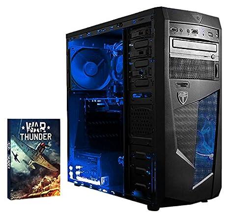 Vibox Precision 6S Unité centrale Néon Bleu (AMD Athlon 64 fx, 16 Go de RAM, 1 To, Nvidia GeForce GT 730)