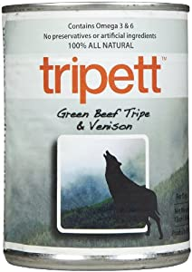 Tripett Green Beef Tripe with Venison -12 x 13 oz