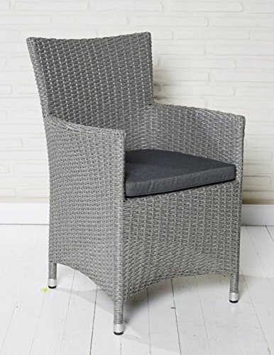 6x Hochwertiger Polyrattan Gartenstuhl Sessel Rattan Stuhl Gartenstühle Gartenmöbel online bestellen